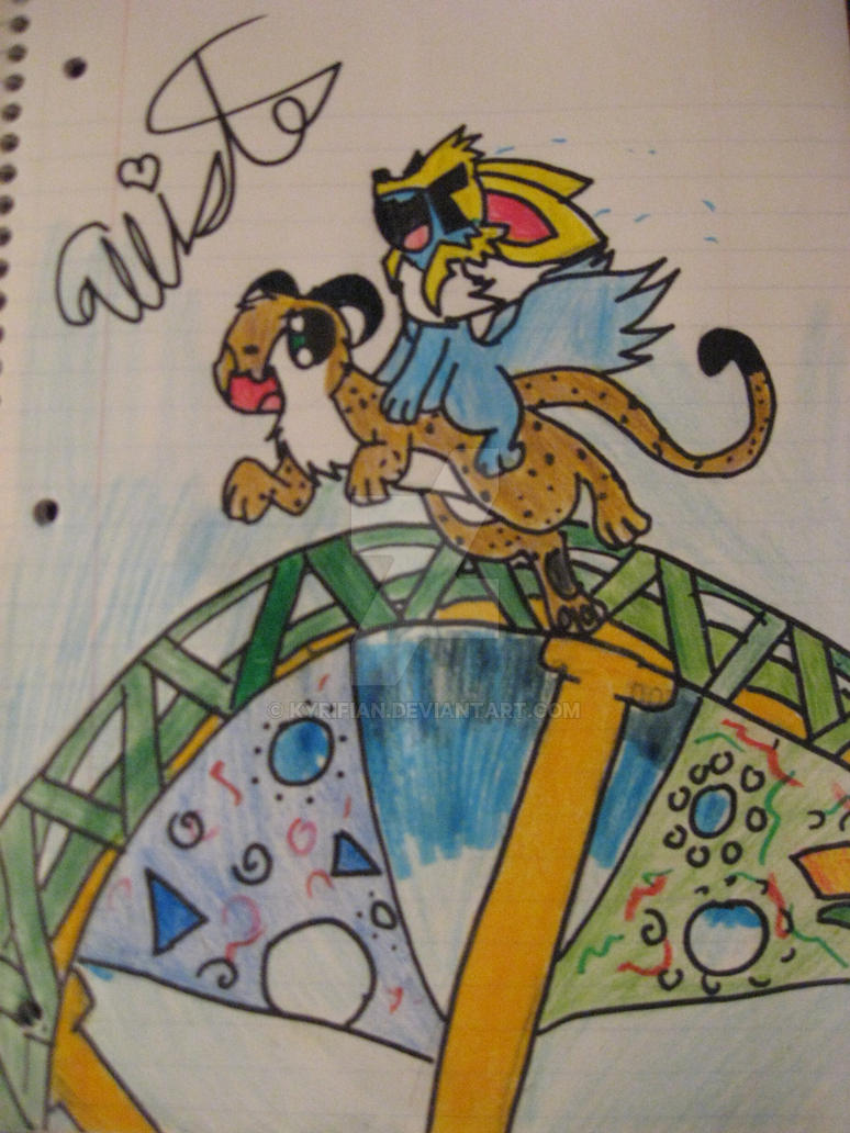 Terra and Cheetah Hunt by Kyrifian