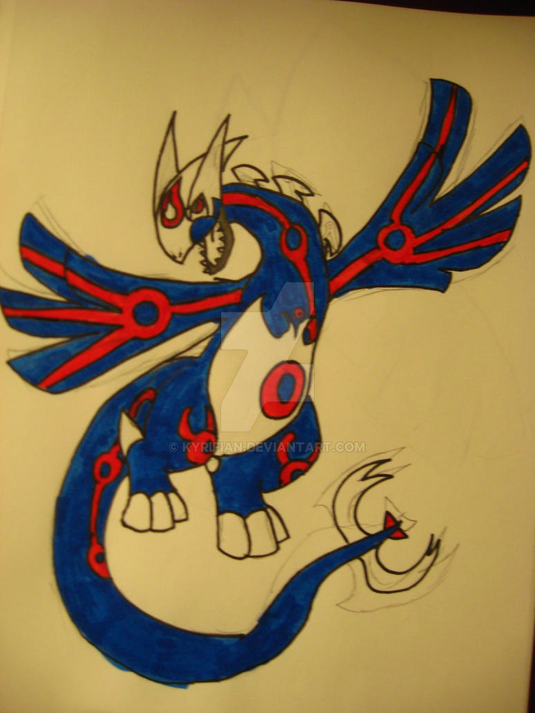 Kyogre Lugia fusion colored by Kyrifian