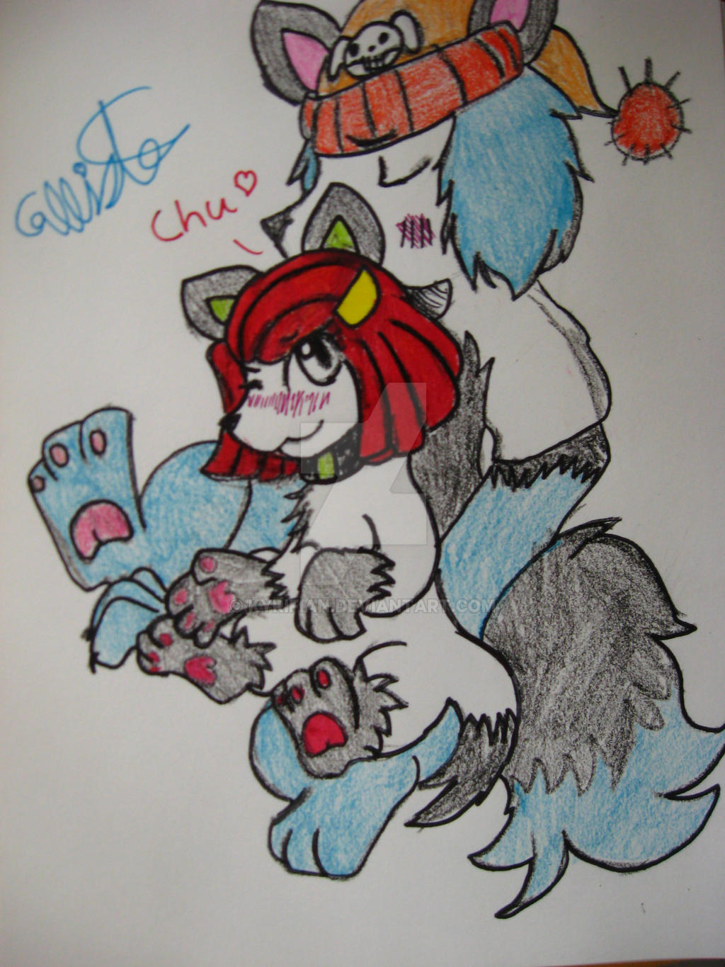 Corey Riffin and Laney Penn as puppies by Kyrifian