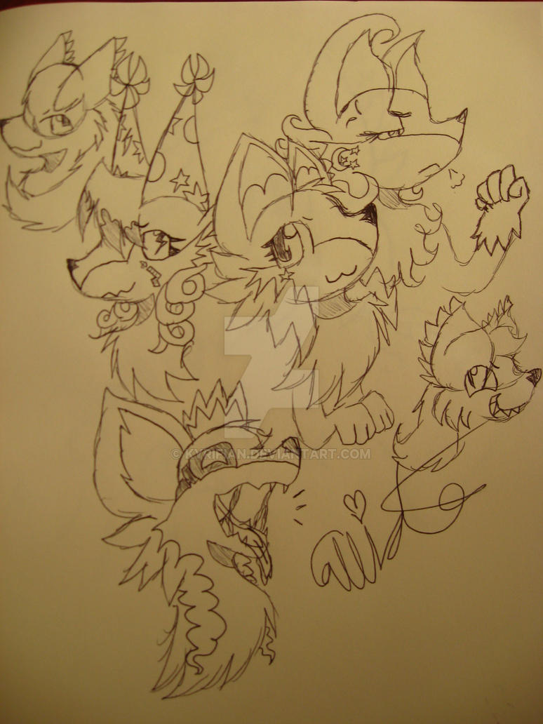 Character doodles :3 by Kyrifian