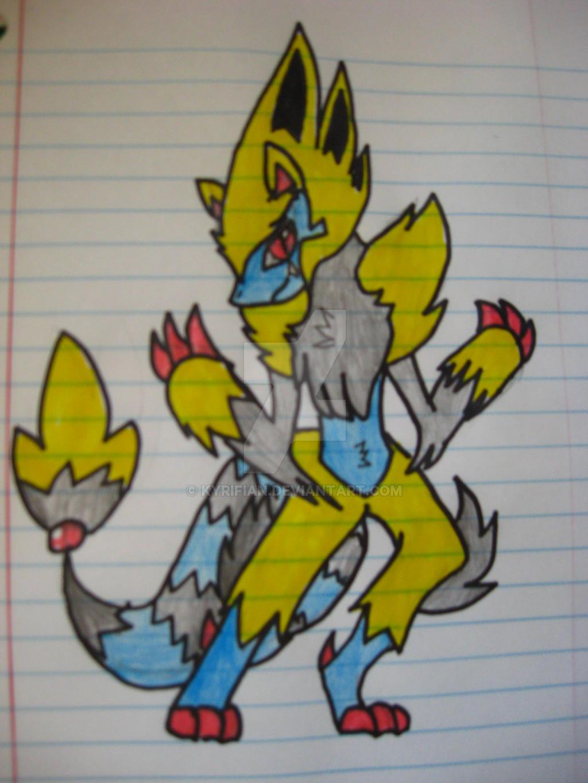 Zoroark Manectric fusion by Kyrifian
