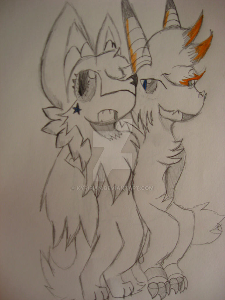 Maxi and Terra, Best Friends for Ever by Kyrifian