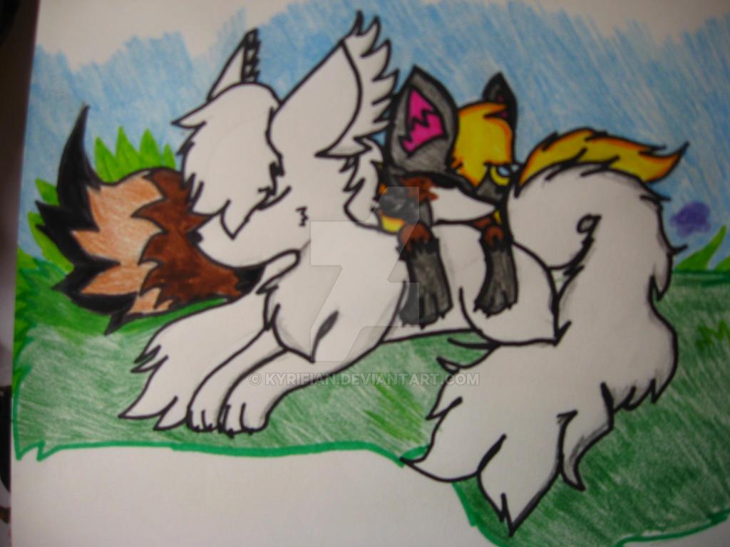 Ivy and Chantal Taking a Nap by Kyrifian