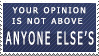Equal Opinions Stamp by FireFlea-San