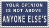 Equal Opinions Stamp by FireFlea-San