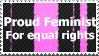 Feminism Stamp by FireFlea-San