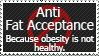 Anti-Fat Acceptance Stamp by FireFlea-San