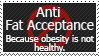 Anti-Fat Acceptance Stamp by FireFlea-San