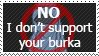Anti Burka stamp by FireFlea-San