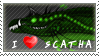 Scatha-the-worm Stamp by FireFlea-San