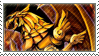 Winged Dragon of Ra Stamp by FireFlea-San