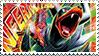 Mega Houndoom Stamp by FireFlea-San