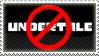 Anti Undertale stamp by FireFlea-San