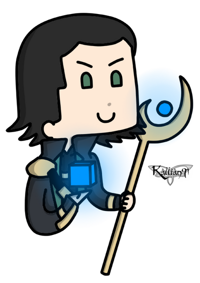 Loki and Tesseract by Kallian91