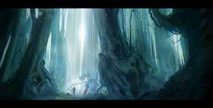 Patrol in the woods
