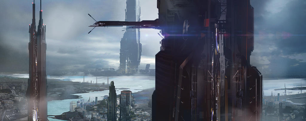 sci-fi City by ldimonl