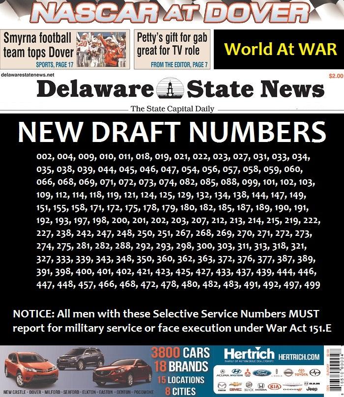 WW3 Media: New Draft Numbers by peacekeeper76