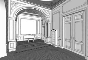 dining room WIP SketchUp by i-t-h-i-l