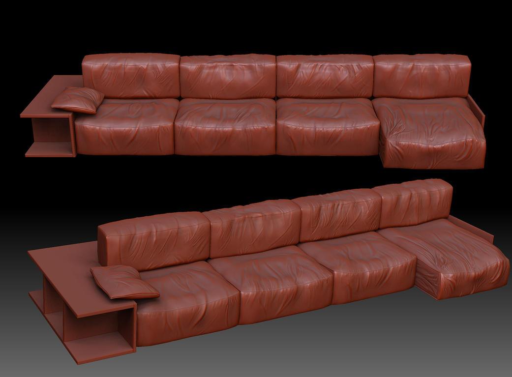 Sofa ZBrush by i t h i l on DeviantArt