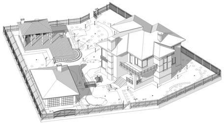 The backyard garden visualization Sk.