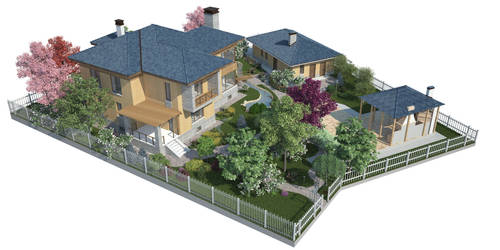 The backyard garden visualization N2 by i-t-h-i-l