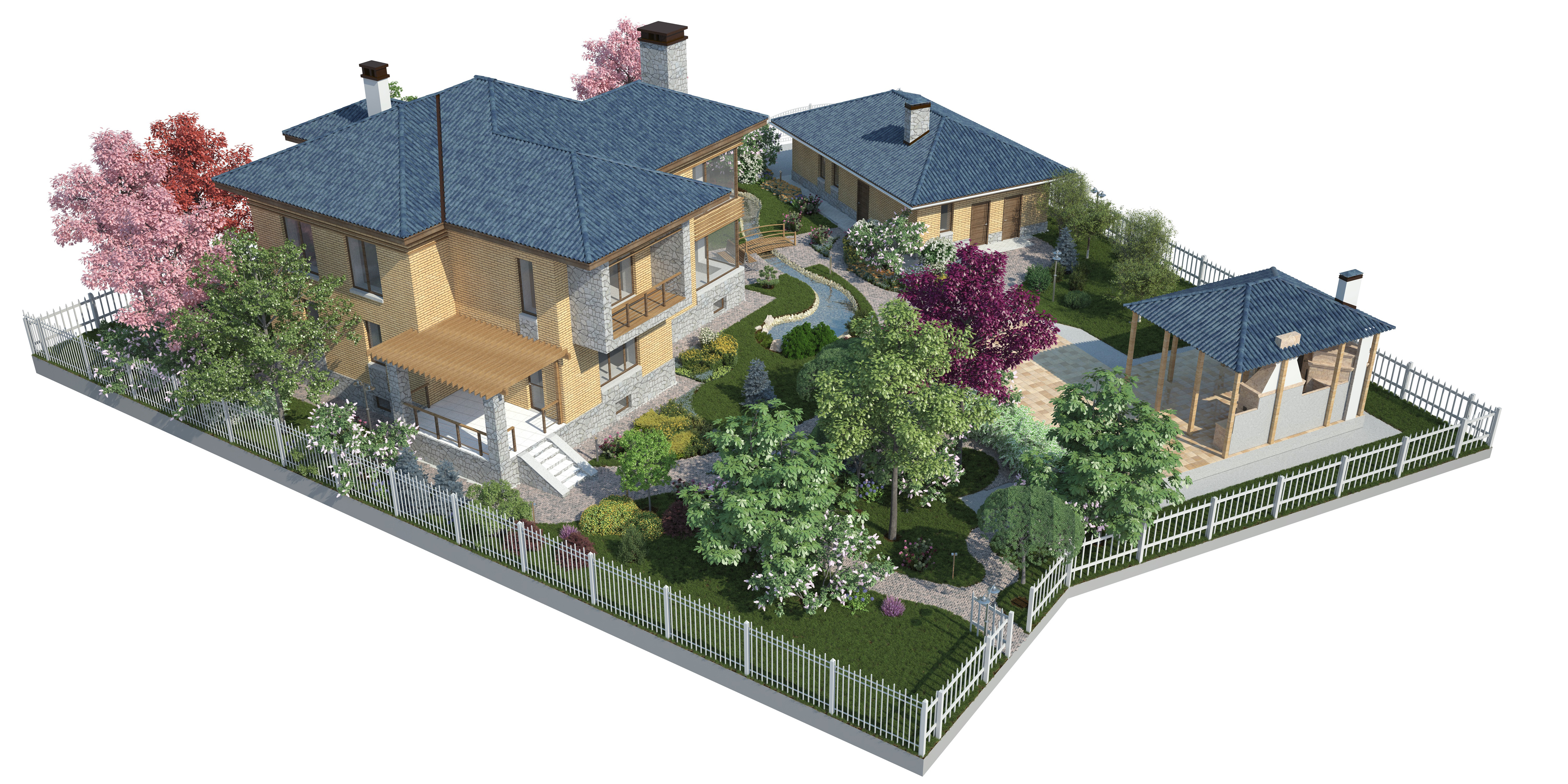 The backyard garden visualization n2 by i t h i l on for Garden design visualiser
