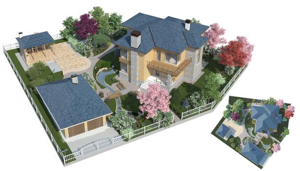 The backyard garden visualization