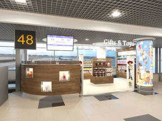 Gifts and Toys shop in airport by i-t-h-i-l