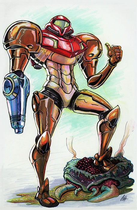 Samus Aran by ChrisJamesScott