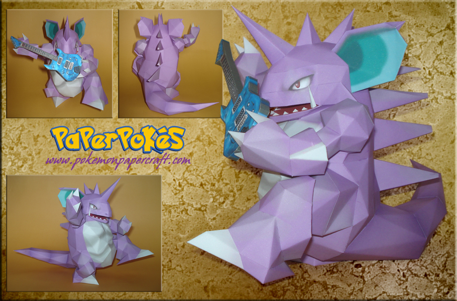 Guitar Hero Nidoking Papercraf by Carnilmo