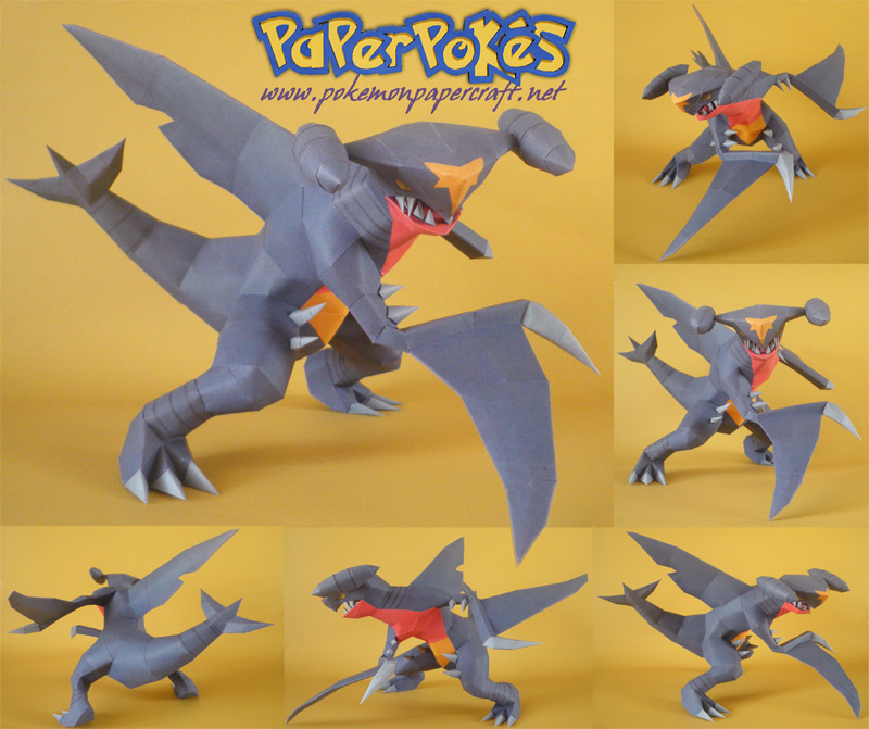 Garchomp Papercraft by Carnilmo