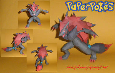 Zoroark Papercraft - Happy Halloween by Carnilmo