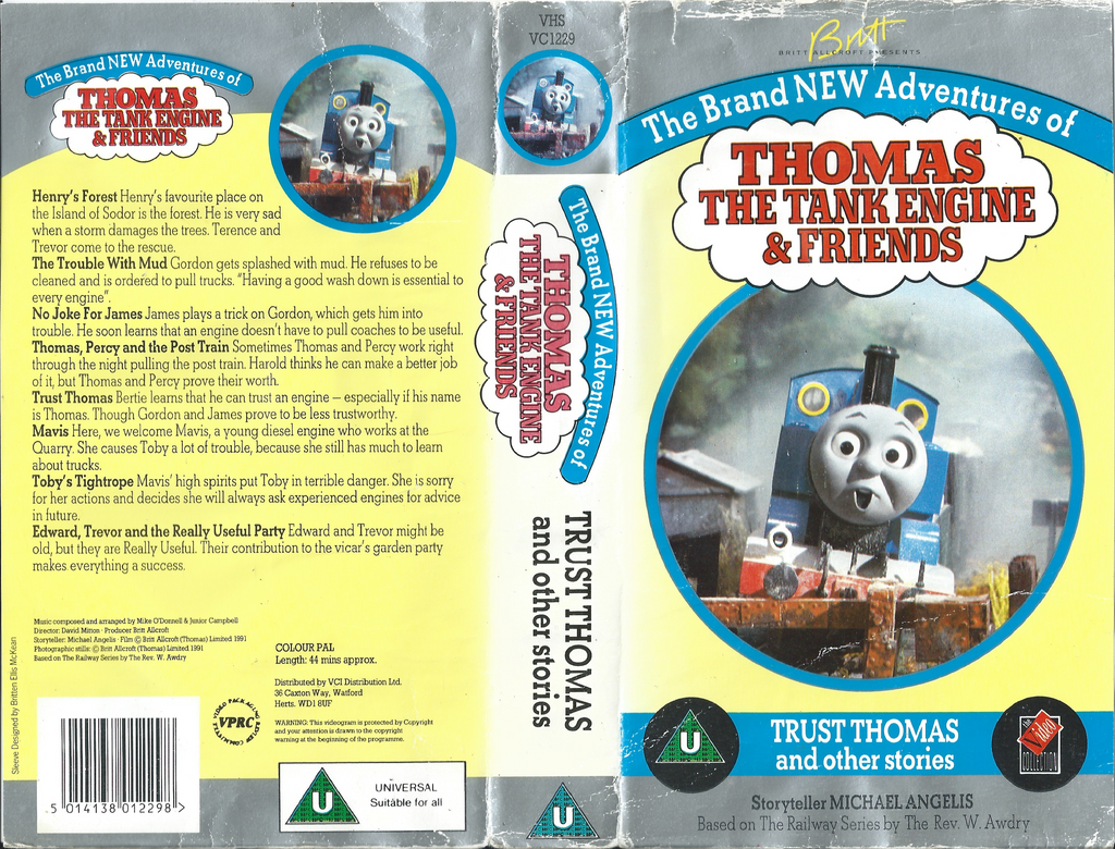 Vhs Covers Ttte Trust Thomas 1991 Uk Cover By