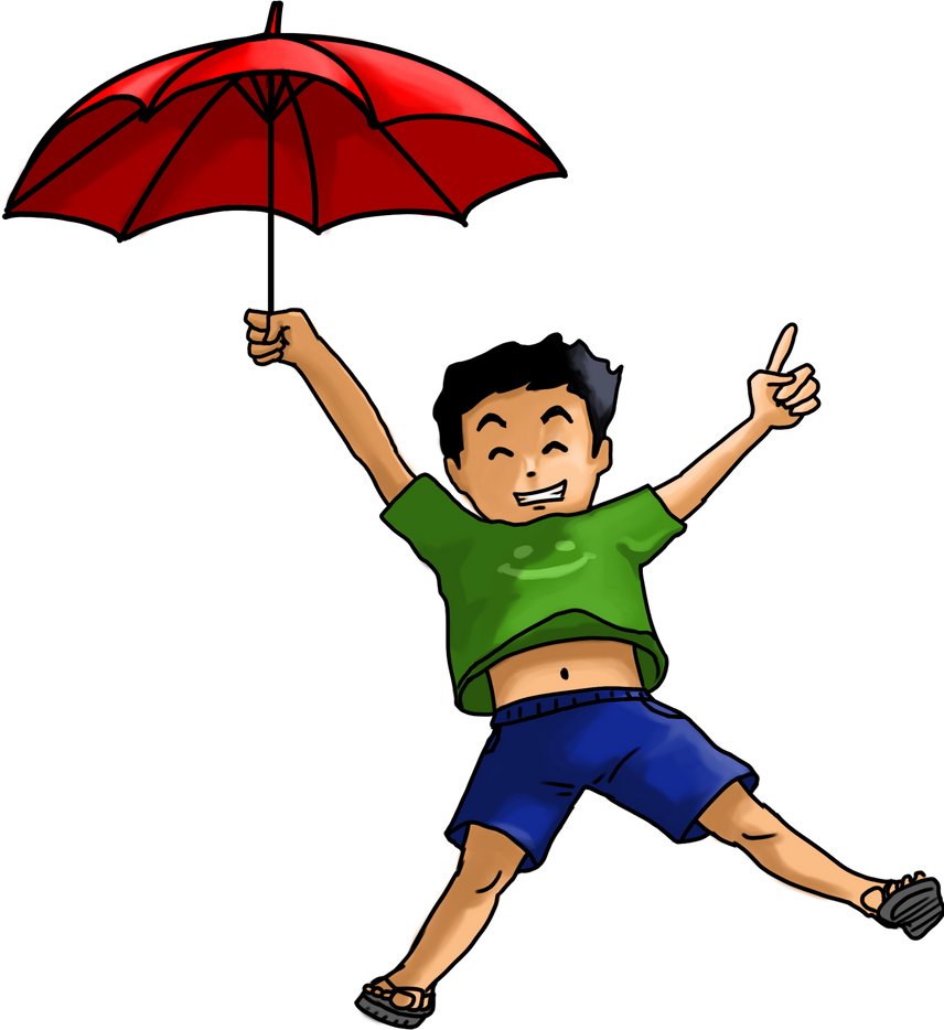 boy and umbrella by justinetutubi on deviantart