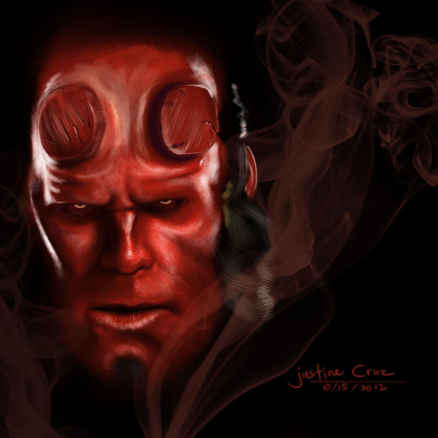 M Logo Wallpaper Mobile Hellboy by JustineTutu...