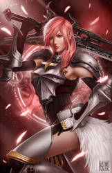 Lightning of Final Fantasy fan art by JustineTutubi