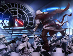 Assassin's creed , Star Wars crossover fan art