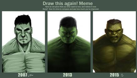 Draw this again meme version 2 by JustineTutubi