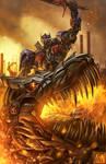 Optimus Prime and Grimlock fan art