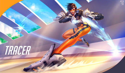 Tracer - Overwatch fan art by JustineTutubi