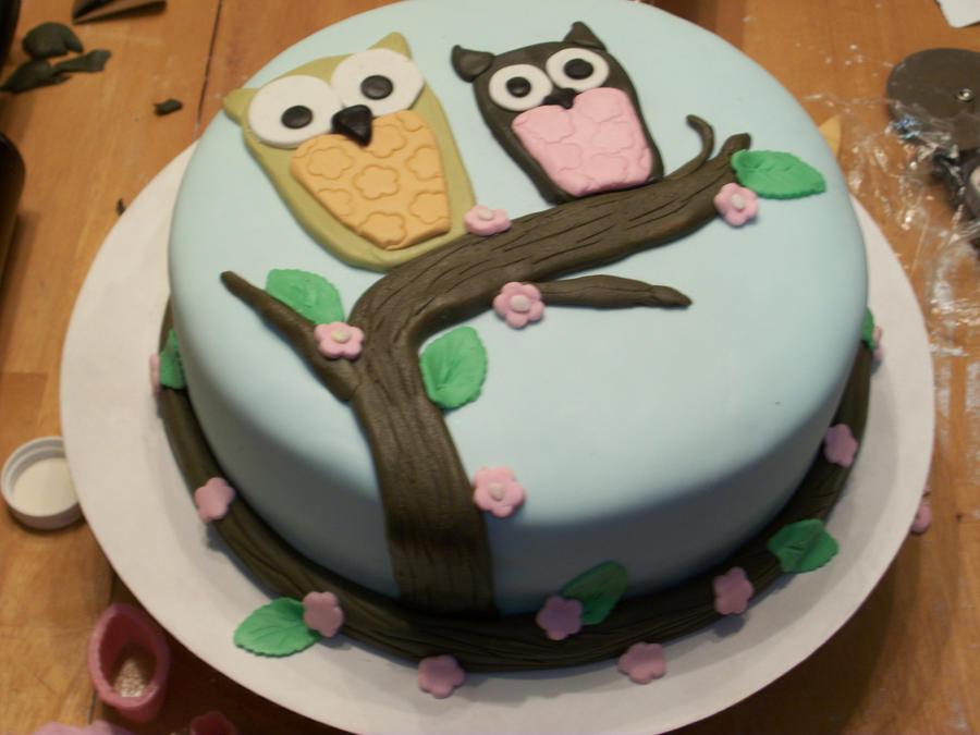 owl cake by Foolhardyheroes