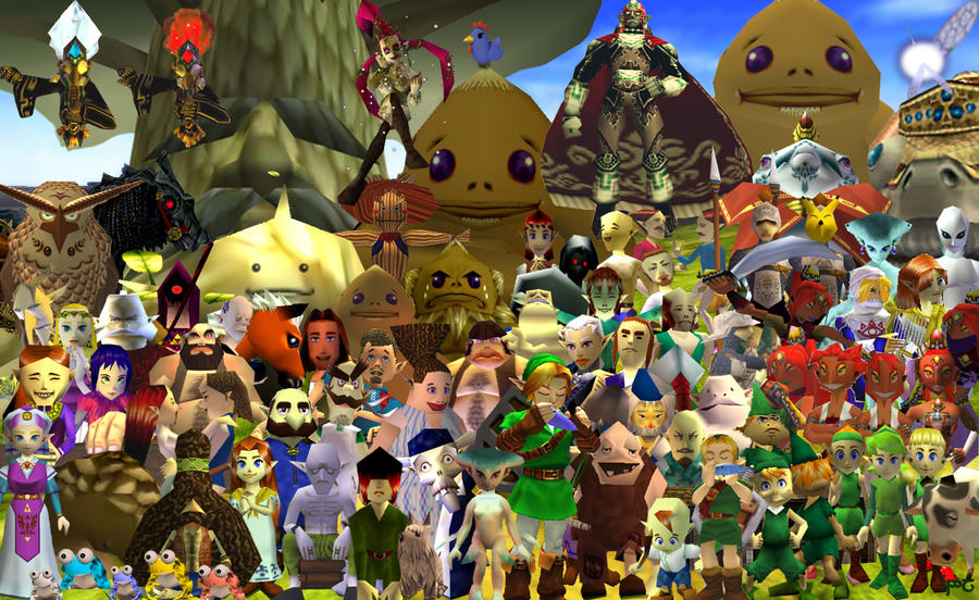 Character Collage - Ocarina of Time by Indiliel