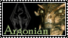 Skyrim Argonian Stamp by Indiliel