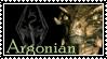 Skyrim Argonian Stamp by Indiliel