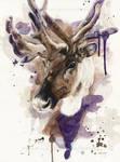 Reindeer - Watercolor Portrait