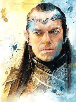 Elrond (Hugo Weaving) - Watercolor Portrait