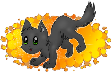 Cat in Black o_O by Catka777