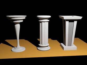 Pedestals - WIP by Dark-Xeist