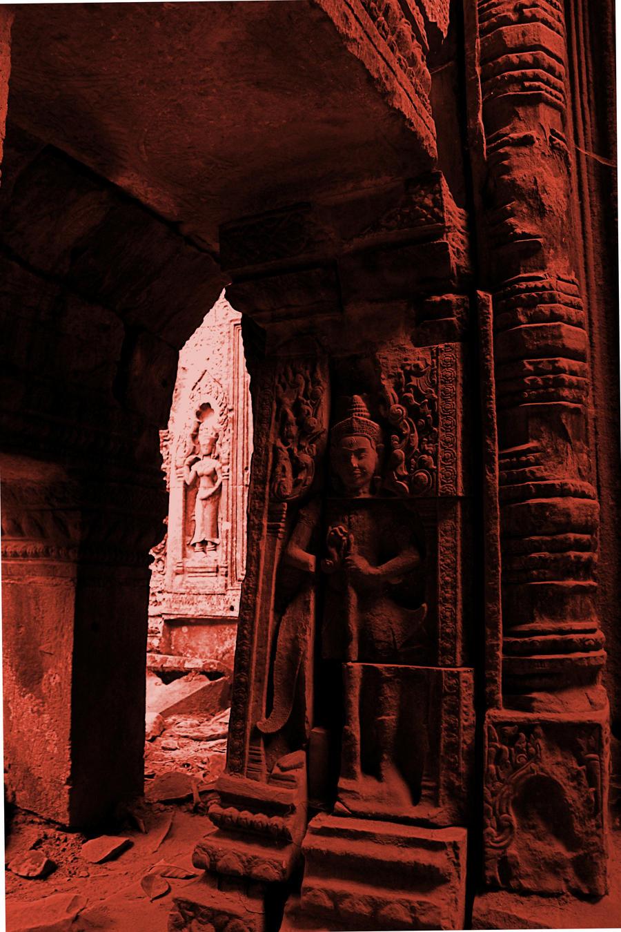 tinted ruin by gypsyskyphotography