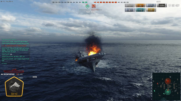 My Beloved Enterprise Sinking On World Of Warships